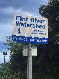 Flint watershed sign