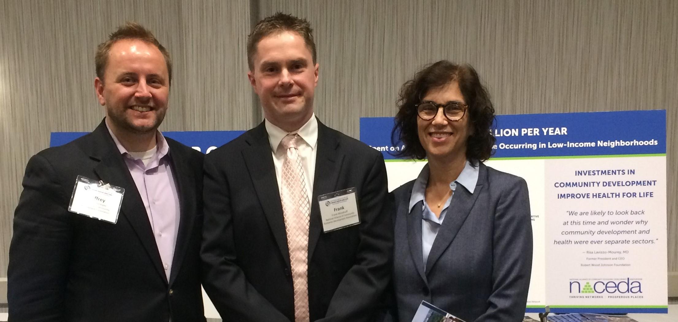 Jeff Verespej, Karen Hacker and Frank Woodruff at NACDD Public Health Showc