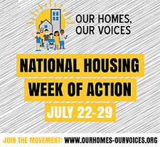 Our Homes, Our Voices Week of Action